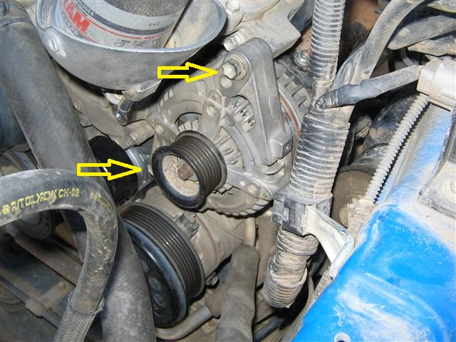 idler pulley bearing failure what to do toyota fj cruiser forum remove alternator mount bolts and remove alternator